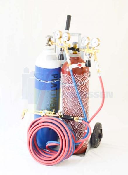 20l Autogenanlage Acetylen / Sauerstoff